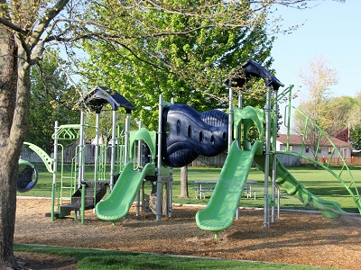 playground equipment at 8th Street Park