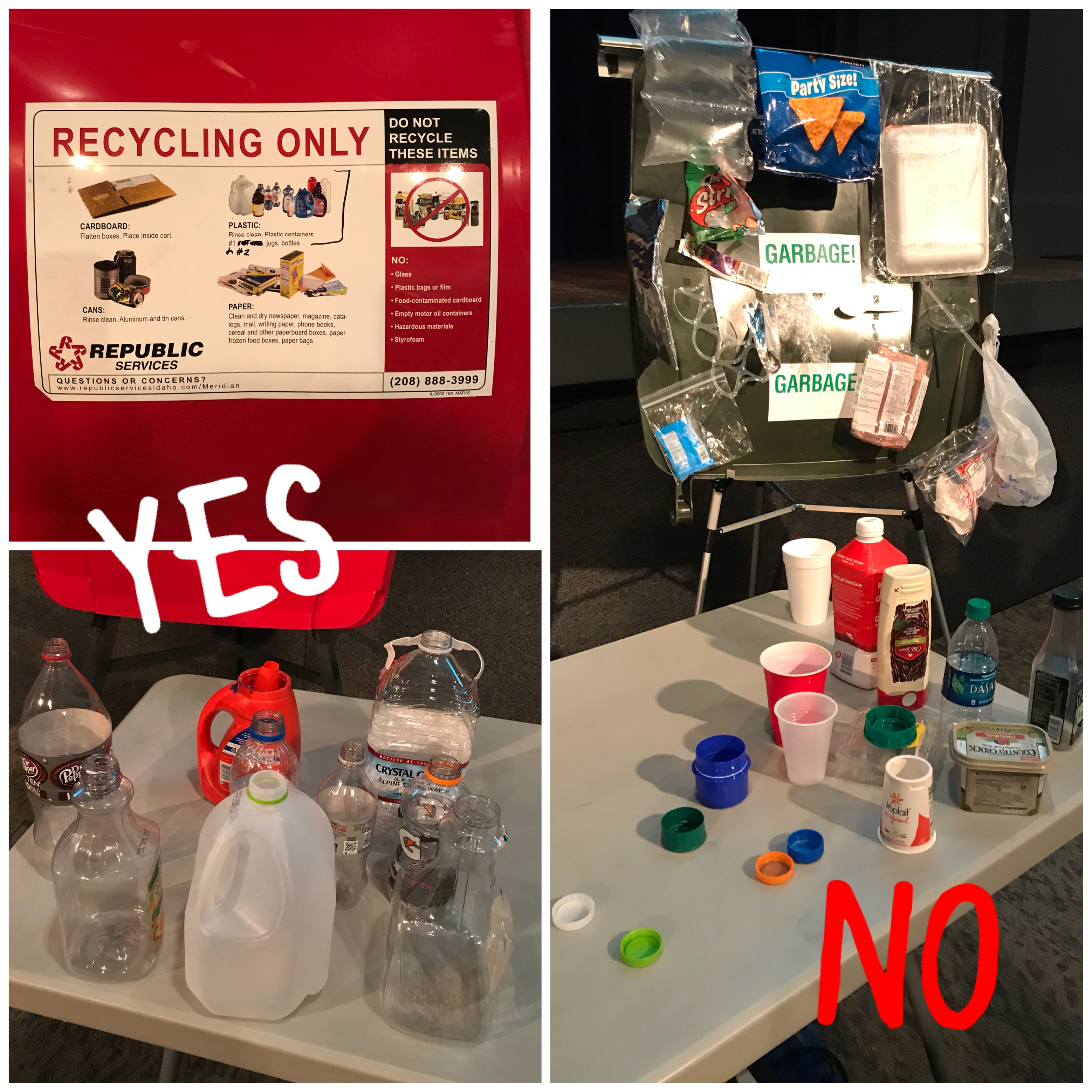 examples of items to recycle vs discard
