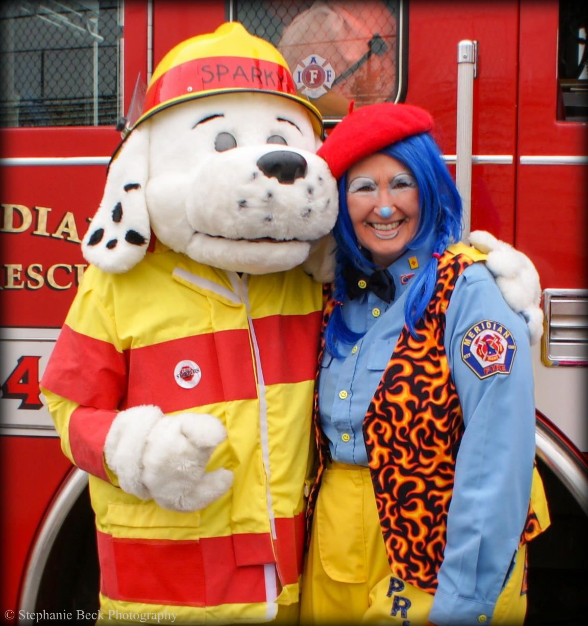Sparky the dog- mascot for public education about fire safety
