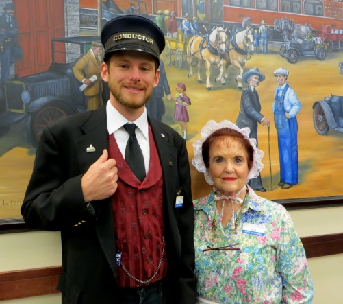 history presenters dressed in historical clothing