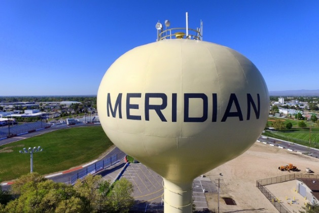 iconic Meridian water tower