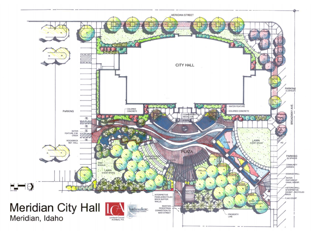drawing of City Hall site