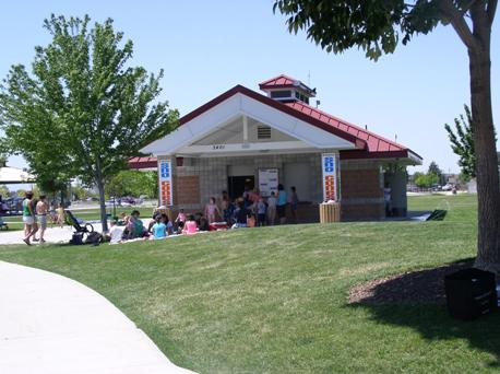 Concessions building & Restrooms at Settler's Park