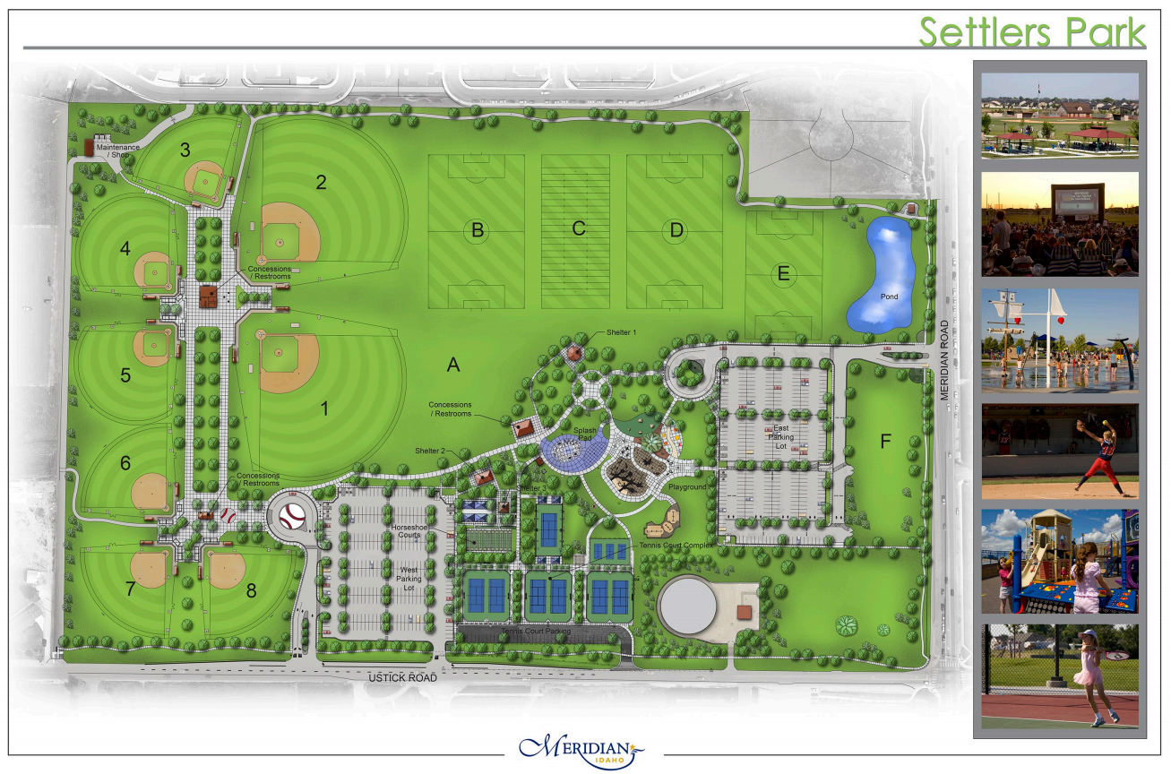 drawing of Settlers Park