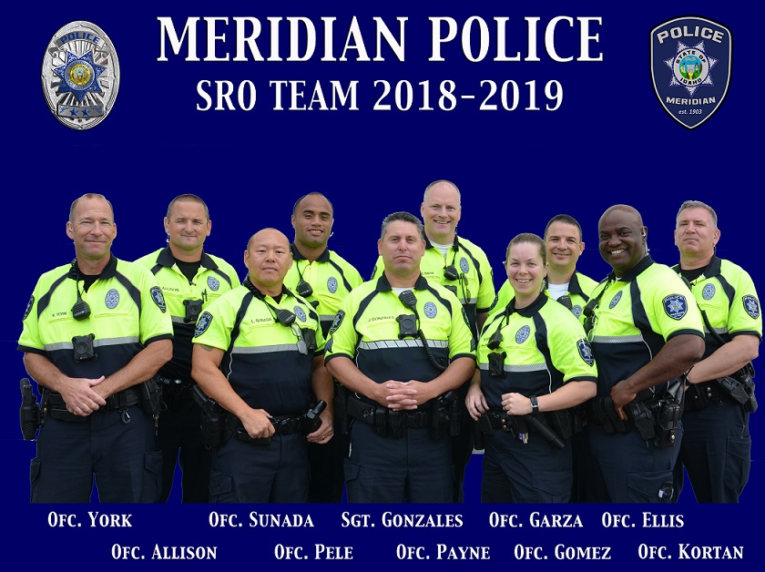 group photo of School Resource Officers